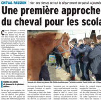 2018 01 19 article Vaucluse matin Sortie ULIS Cheval Passion